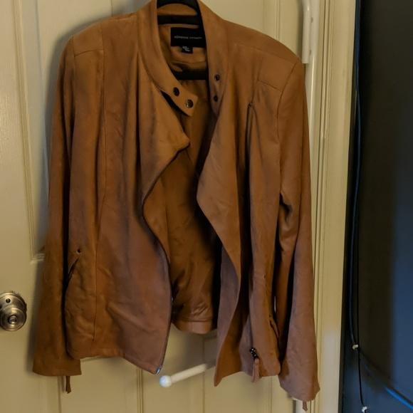 Adrienne Vittadini Jackets & Blazers - Adrienne Vittadini faux tan suede Moto jacket